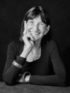 black and white studio portrait of Gabrielle