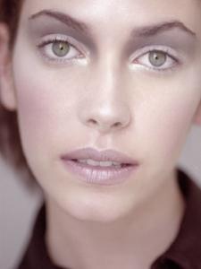 colour studio close-up beauty portarit of Charlotte