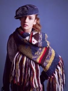 colour studio portrait of Veronika knitwear shoot for magazine