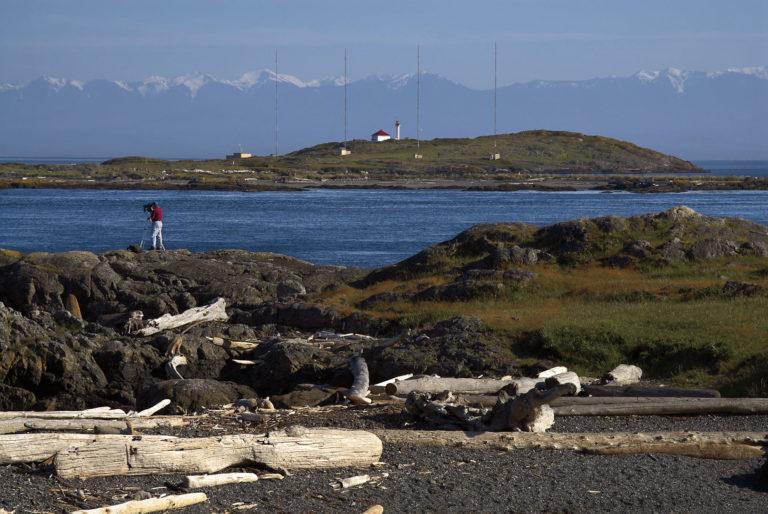 Photographer, McNeill Bay, The Strait of Juan de Fuca.